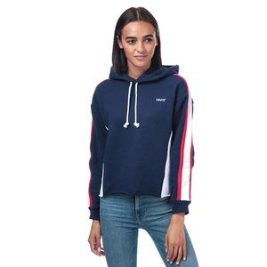 NEW Levi's Womens Extra Sport Short Hoodie Size S